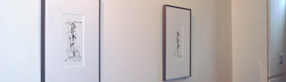 Original drawings of local artist Martine Myny